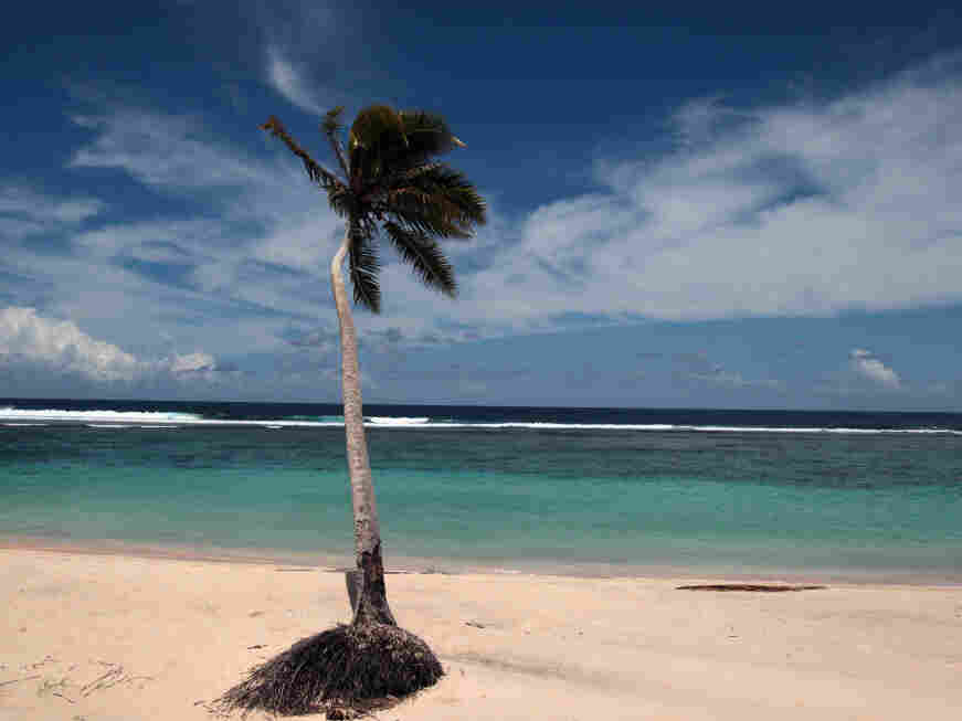Monday or Tuesday, the beach is still beautiful in Apia, Samoa.