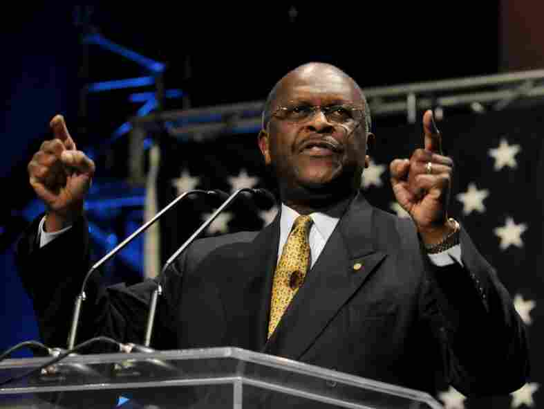 Potential GOP presidential candidate Herman Cain, the former chairman and CEO of Godfather's Pizza, speaks at the Iowa Faith & Freedom Coalition event in March 2011 in Waukee, Iowa. Cain was said to be the surprise winner of the first GOP debate.