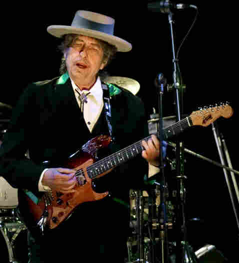 Bob Dylan, during an April 8, 2011, concert in Shanghai.