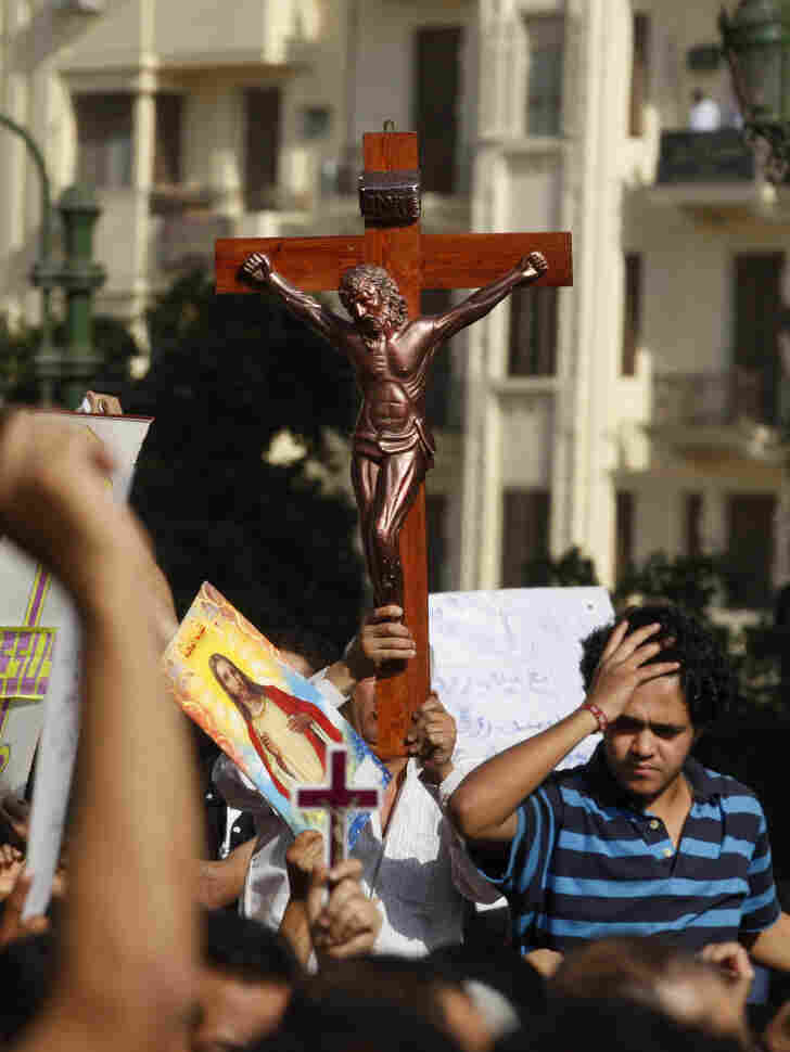Many Coptic Christians say they feel more vulnerable to attacks by Muslims since the fall of Hosni Mubarak in February.