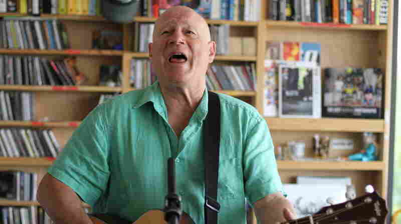 Neil Innes performs a Tiny Desk Concert at the NPR Music offices.