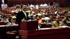 In his first statement since the U.S. operation that killed Osama bin Laden, Pakistani Prime Minister Yousuf Raza Gilani stoutly defended Pakistan's military and intelligence agency and indirectly criticized the U.S. for bin Laden's presence in the country. This photograph was provided by Pakistan's Press Information Department.