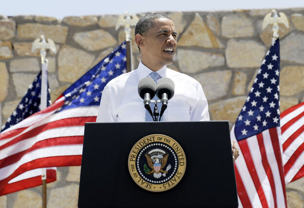 President Obama makes an economic case for immigration reform at the Chamizal National  Memorial on Tuesday in El Paso, Texas.