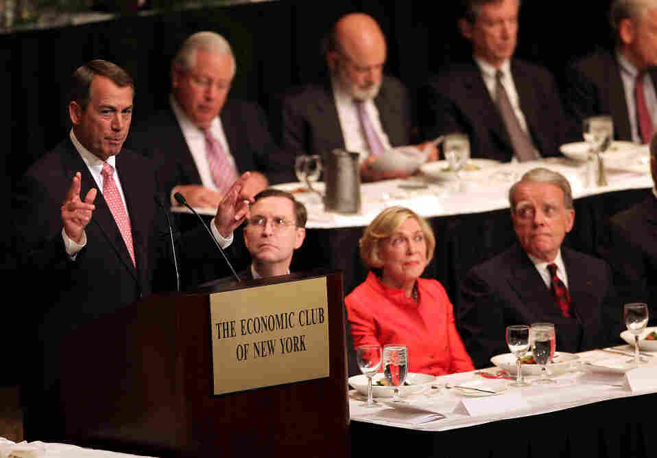 House Speaker John Boehner at the Economic Club of New York, May 9, 2011.