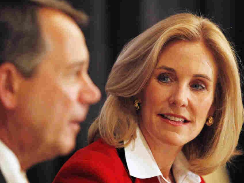 House Speaker John Boehner and Jane Corwin at an upstate New York fundraiser, May 9, 2011.