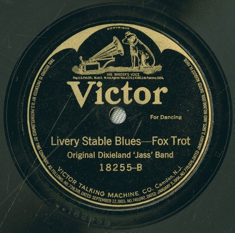 """Livery Stable Blues"" by the Original Dixieland Jazz Band is considered to be the first jazz recording ever released."