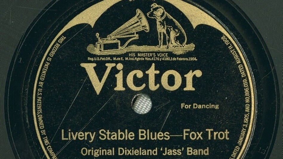 """""""Livery Stable Blues"""" by the Original Dixieland Jazz Band is considered to be the first jazz recording ever released. (Recorded Sound Section, MBRS Division, Library of Congress)"""