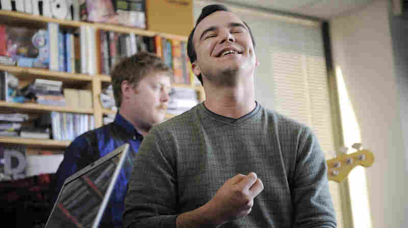 Future Islands perform a Tiny Desk Concert at the NPR Music offices.
