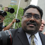 Raj Rajaratnam exits federal court in New   York on Wednesday. The billionaire co-founder of Galleon Group was convicted of making a fortune by coaxing a crew of corporate tipsters to give him an illegal edge on blockbuster trades in technology and other stocks.