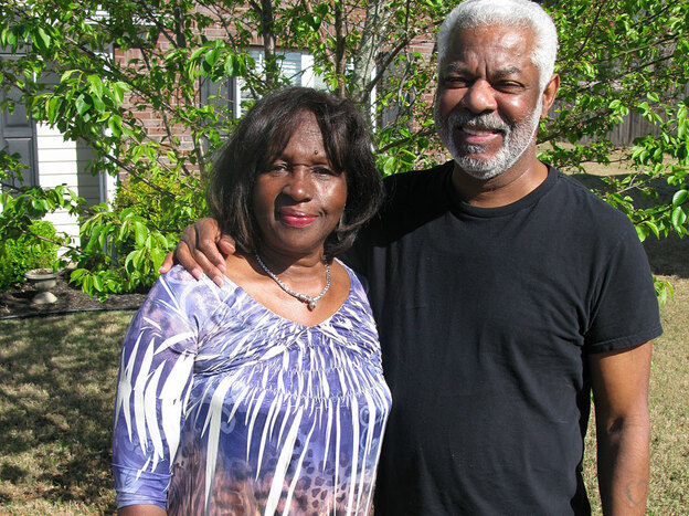 Eliska Barriere, 67, with her husband, Welmon Barriere Sr., 71. The pair  left  New Orleans for Milwaukee in 1962 and then roughly 30 years later moved to suburban Atlanta.