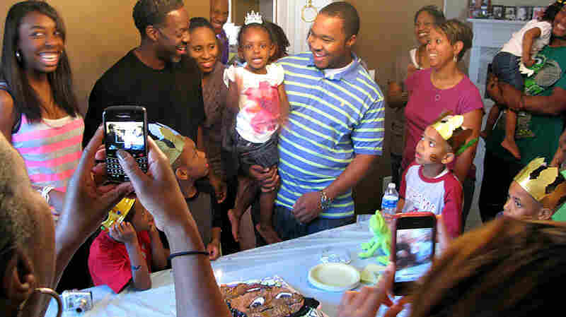 The Barrieres gathered on a Sunday in early April to celebrate Gabrielle  Barriere's third birthday.