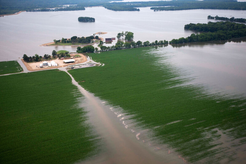 Flooded River Takes Aim At Mississippi Delta : NPR