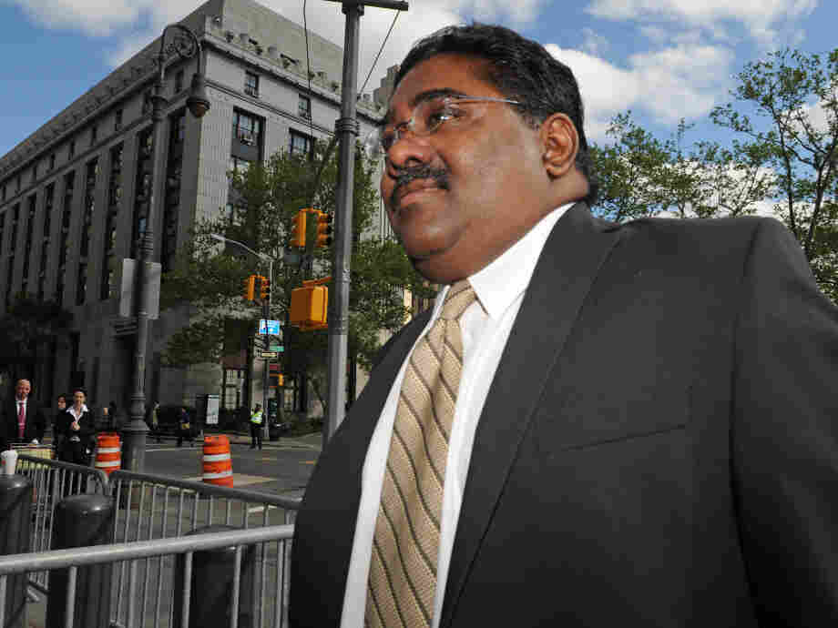 Raj Rajaratnam, billionaire co-founder of Galleon Group, enters Manhattan federal court on Wednesday.