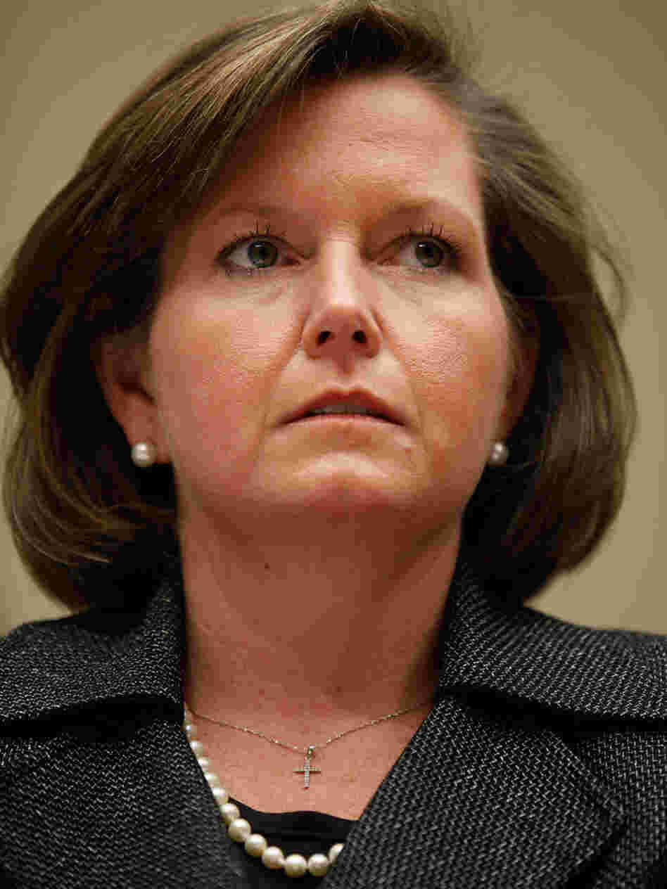 Federal Communications Commissioner Meredith Attwell Baker, shown at a hearing on Capitol Hill in March, is resigning to become a lobbyist for Comcast.