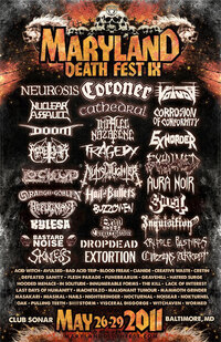Poster for Maryland Deathfest IX.