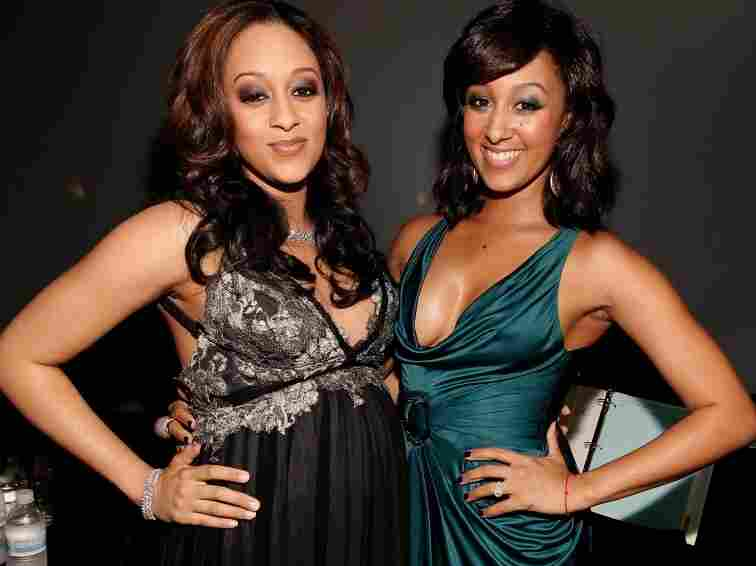 Actresses Tia and Tamera Mowry pose backstage at the 42nd NAACP Image Awards in Los Angeles. The twin sisters will star in the reality show, Tia & Tamera Take Two on the Style Network.