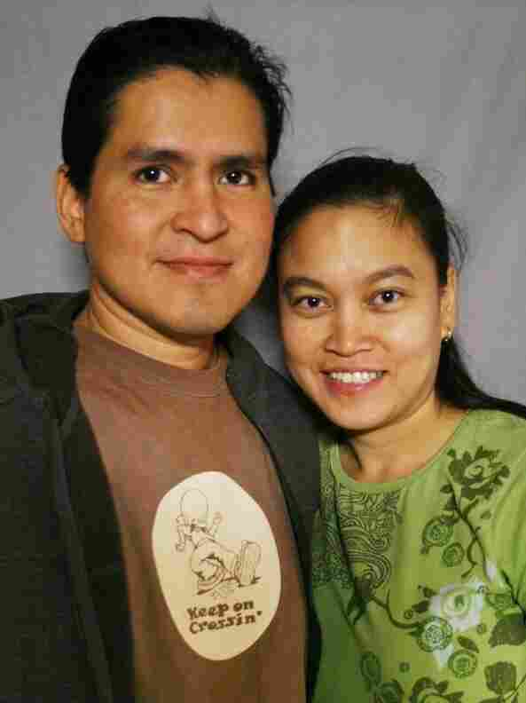 A mistyped email started a romance between Ruben and Rachel Salazar. The two were married on Nov. 24, 2007.