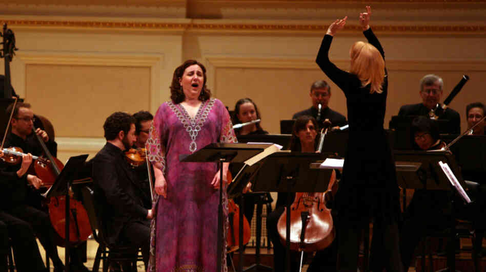 Composer Maria Schneider conducts soprano Dawn Upshaw and the Saint Paul Chamber Orchestra in her piece 'Carlos Drummond de Andrade Stories.'