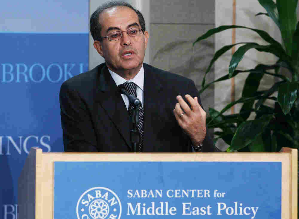 Dr. Mahmoud Jibril, interim prime minister of the Libyan Transitional National Council, speaks during an a event at the Brookings Institute on May 12.