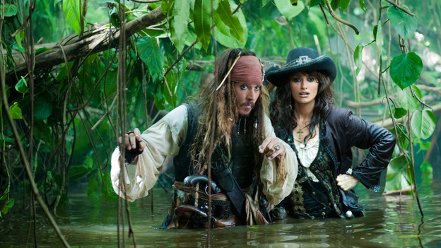 Princess Of 'Tides': Penelope Cruz (right, wearing less eyeliner) joins Johnny Depp for a fourth Pirates of the Caribbean adventure. (Buena Vista Pictures)