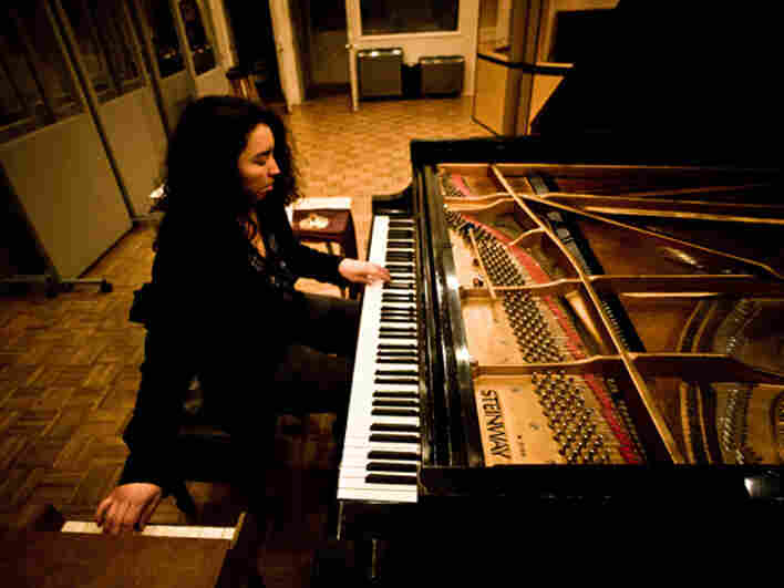 Angelica Sanchez's new album features music written for both standard piano and toy piano.