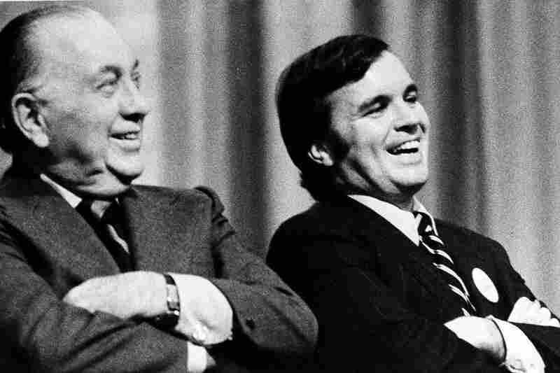 Mayor Richard J. Daley and his son, Richard M. Daley, sit together during an October 1974 political rally in Chicago. The younger Daley would go on to serve as mayor for 22 years, helping to create a dynasty in which a father and son have been in charge for 43 of the past 56 years.