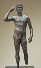 In 1964, Italian fishermen found a bronze, barnacle-covered statue of a Greek athlete in the Adriatic Sea (see below). The statue was buried in a cabbage field, hidden in a priest's bathtub and smuggled out of Italy. It re-emerged on the European art market in the mid-1970s; the J. Paul Getty Museum purchased it for $3.95 million in 1977.