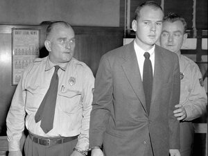In Popular Crime, Bill James writes that while Dr. Sam Sheppard (above) may not have actually murdered his wife, he believes he was somehow involved in her 1954 death.