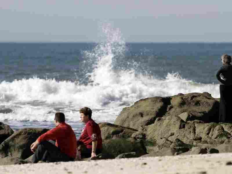 Visitors enjoy Pillar Point Beach in Half Moon Bay, Calif.
