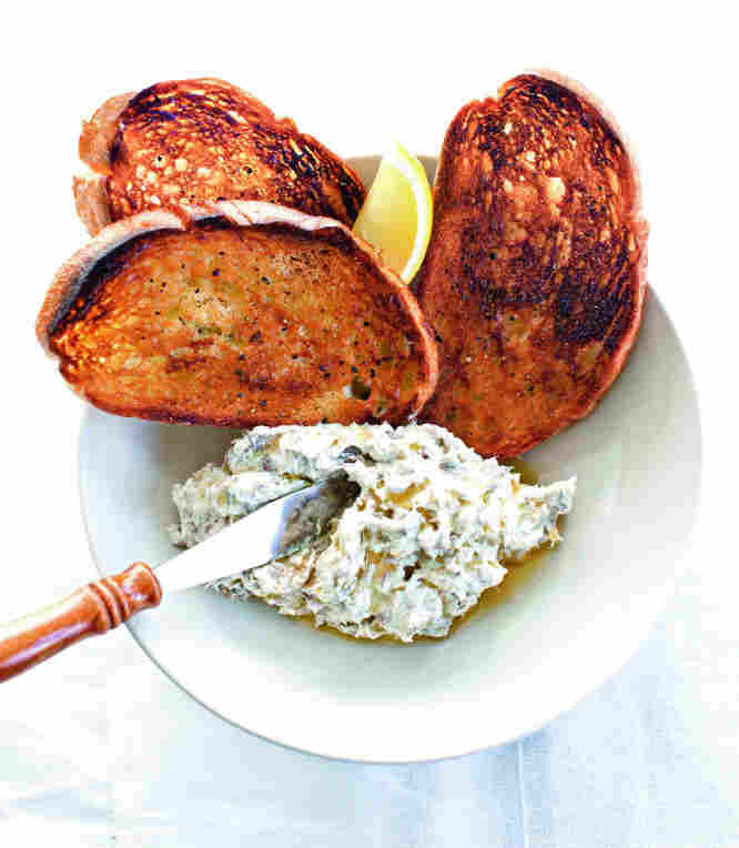 Smoked Bluefish Spread with Toasted Bread and Olive Oil