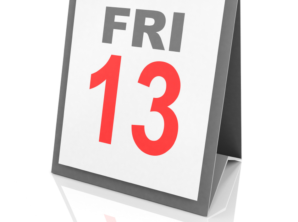 One name for the fear of Friday the 13th is friggatriskaidekaphobia. (iStockphoto.com)
