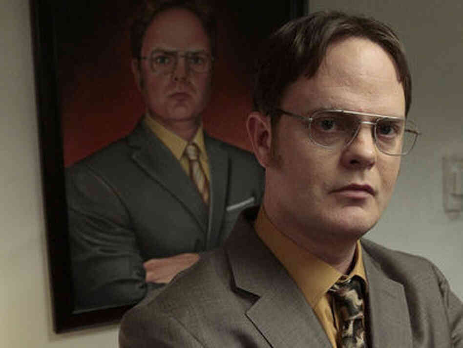 Rainn Wilson as Dwight Schrute on NBC's The Office.