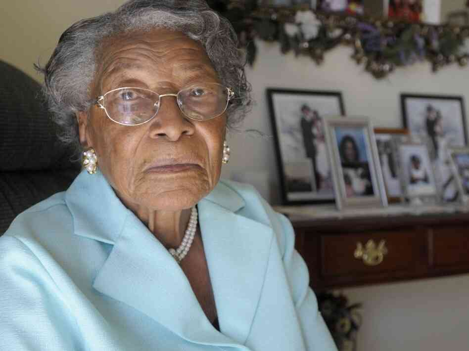 Recy Taylor, 90, sits in her Florida home in 2010. Taylor's brutal sexual assault by seven white men in 1944 in the racially divided South spurred a national movement.
