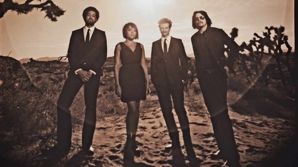 Left to right: Danger Mouse, Norah Jones, Daniele Luppi and Jack White, whose collaborative Western album is titled Rome. (Courtesy of the artist)