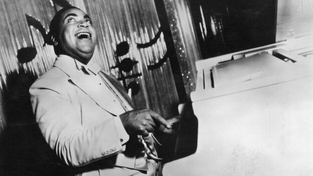 Fats Waller's stride piano style was in demand at rent parties and millionaires' mansions. Somehow, he pulled everyone in and got them to dance.