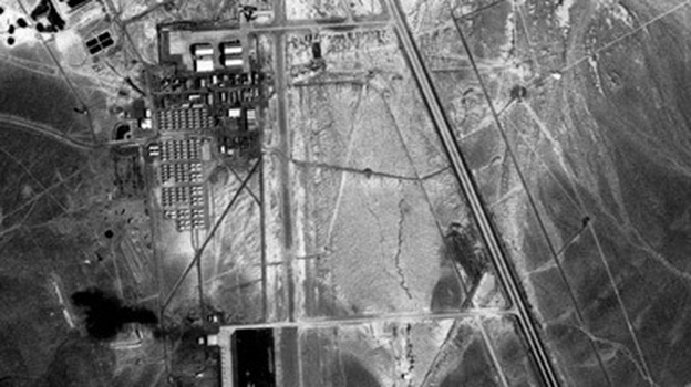 Area 51, seen from above, in 1968. (U.S. Geological Survey)
