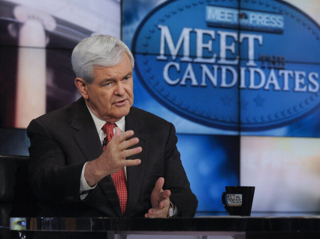 """Speaker Newt Gingrich on NBC News' """"Meet the Press"""", May 15, 2011."""