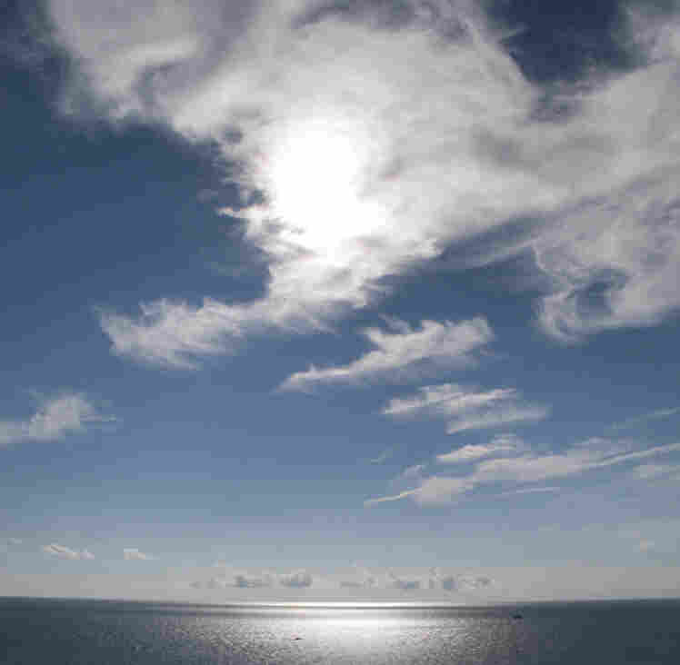 The sun shines down on Moshup Beach, Martha's Vineyard, Mass.; July 31, 2010.