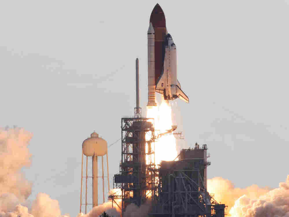 The space shuttle Endeavour lifts off from Kennedy Space Center in Cape Canaveral, Fla., Monday, May 16, 2011.