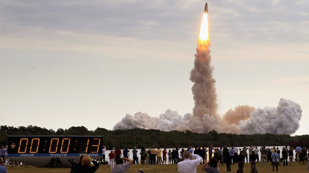 The space shuttle Endeavour lifted off from Kennedy Space Center in Cape  Canaveral, Fla., on Monday to begin a mission to the International Space  Station.