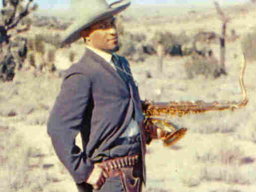 William Claxton's cover photo of Sonny Rollins standing in the desert — sporting a cowboy hat, gun holster and humorously knowing look — has only added to Way Out West's classic status.