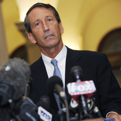 "South Carolina Gov. Mark Sanford admitted to having an extramarital affair in June 2009. Out of Character quotes his friend Tom Davis as saying, ""I never would have expected something like this. This is not in character for Mark Sanford."""
