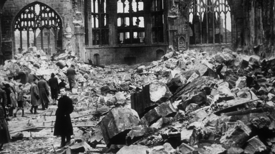 Coventry Cathedral in ruins, November 1940. Britten's War Requiem was written for the church's reconsecration more than 20 years after it was destroyed by German bombers. (Getty Images)