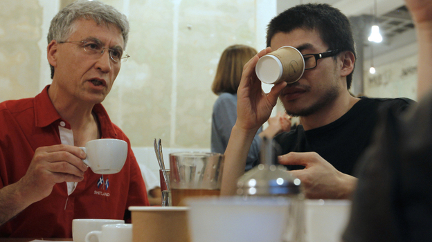 A study finds that drinking at least six cups a day of coffee reduces the risk of  aggressive prostate cancer by 60 percent. (AFP/Getty Images)