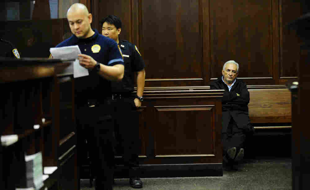 IMF chief Dominique Strauss-Kahn, waits be arraigned on sexual assault charges at Manhattan Criminal Court in New York, on Monday, May 16, 2011.