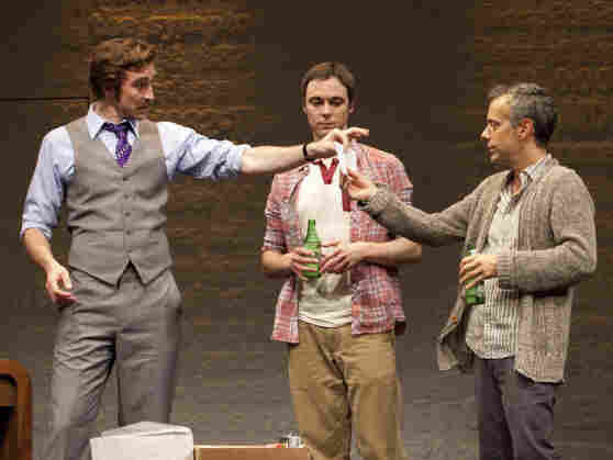 Lee Pace, Jim Parsons and Joe Mantello in The Normal Heart.