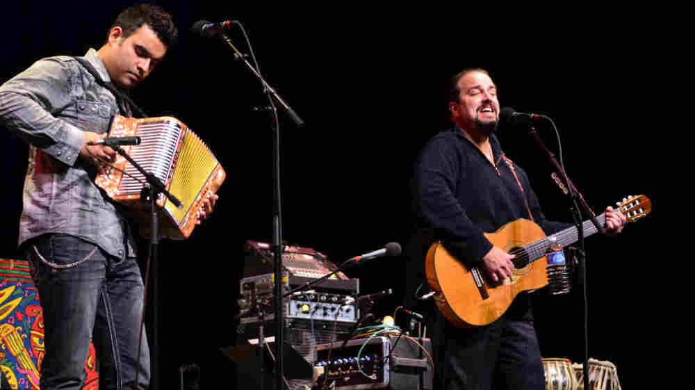 Raul Malo (right) performed on Mountain Stage.