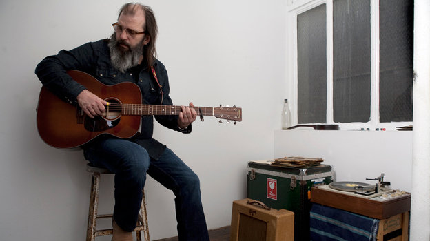 Steve Earle performed on World Cafe. (Ted Barron)