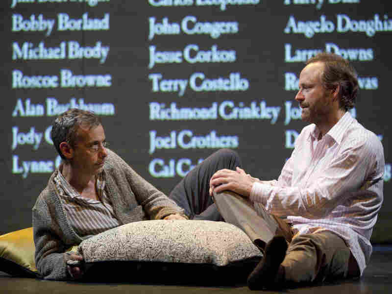 Joe Mantello as Larry Kramer's alter ego Ned Weeks and John Benjamin Hickey as Felix Turner in the revival of The Normal Heart on Broadway.