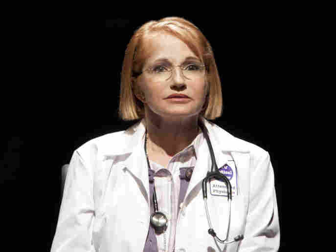Ellen Barkin, in her Broadway debut, plays Dr. Emma Brookner in The Normal Heart.
